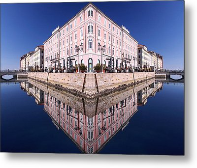 Metal Print featuring the photograph Grande Canal Trieste by Graham Hawcroft pixsellpix