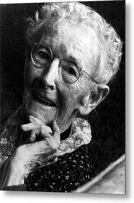 Grandma Moses 1860-1961, Renowned Metal Print by Everett