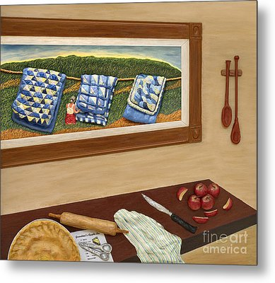 Grandma's Apple Pie Metal Print by Anne Klar