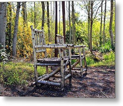 Grandmas Country Chairs Metal Print by Athena Mckinzie