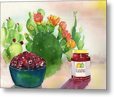 Grandmas Prickly Pear Jam Metal Print by Sharon Mick
