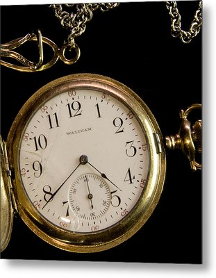 Metal Print featuring the photograph Grandpa's Watch I by Michael Friedman