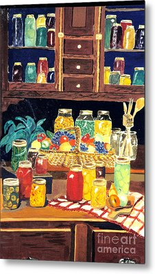 Metal Print featuring the painting Granny's Cupboard by Julie Brugh Riffey