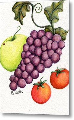 Grape Salad Metal Print
