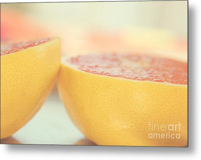 Grapefruit Metal Print by Kim Fearheiley