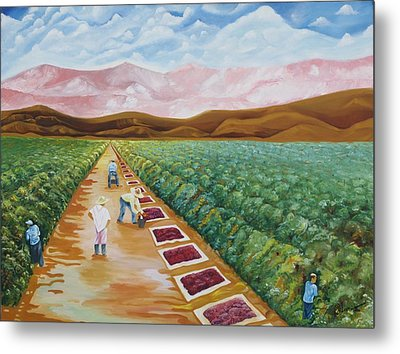 Grapes Farmers Metal Print by Johnny Otilano