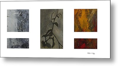 Grapevine Compositional Collage 2 Metal Print by Xoanxo Cespon