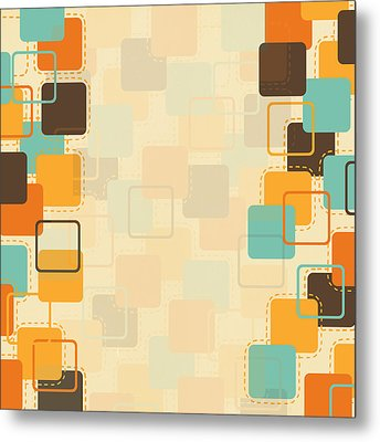 Graphic Square Pattern Metal Print by Setsiri Silapasuwanchai
