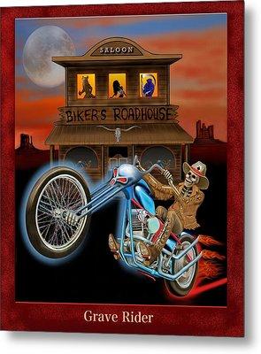 Grave Rider Metal Print by Glenn Holbrook