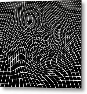 Gravity Waves In Space-time, Artwork Metal Print by Victor De Schwanberg