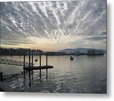 Metal Print featuring the photograph Gray Day On Bellingham Bay by Karen Molenaar Terrell