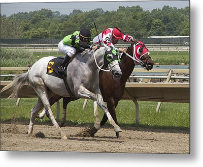Metal Print featuring the photograph Gray Vs Bay by Alice Gipson