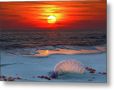 Grayton Beach Sunset IIi Metal Print