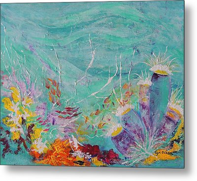 Metal Print featuring the painting Great Barrier Reef Life by Lyn Olsen