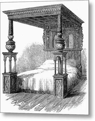 Great Bed Of Ware, C1590 Metal Print by Granger