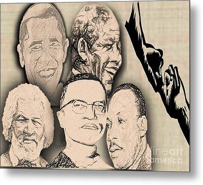 Great Powerful African American Men Metal Print by Belinda Threeths