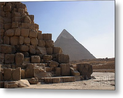 Great Pyramids Khafre Metal Print by Darcy Michaelchuk