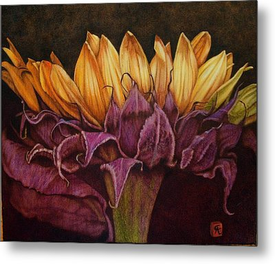 Great Sunflower Metal Print by Cynthia Adams