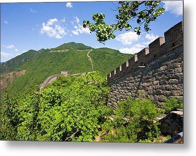 Great Wall At Mutianyu Metal Print by Bridget Coila