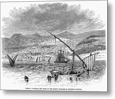 Greece: Salonika, 1876 Metal Print by Granger