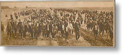 Greek Refugees Were Forced Metal Print by Everett