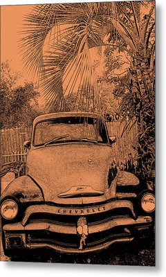 Greeks Truck Metal Print by Gerald Cooley