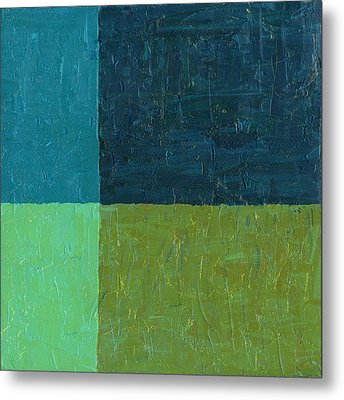 Green And Blue Metal Print by Michelle Calkins