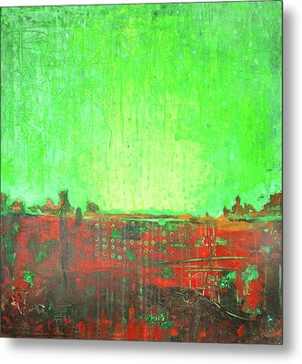 Metal Print featuring the painting Green Day by Lolita Bronzini