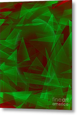 Green Eyed Monster Abstract Metal Print by Michelle Bergersen