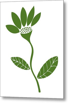 Green Flower Metal Print by Frank Tschakert