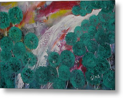 Green Forest Metal Print by Sima Amid Wewetzer