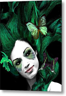 Green Goddess Metal Print by Diana Shively