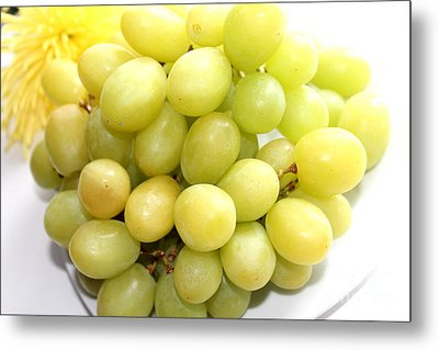 Green Grapes And Mum Metal Print by Barbara Griffin