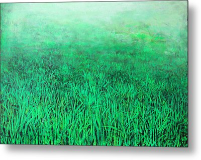 Green Grass Metal Print by Lolita Bronzini