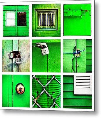 Green Metal Print by Julie Gebhardt