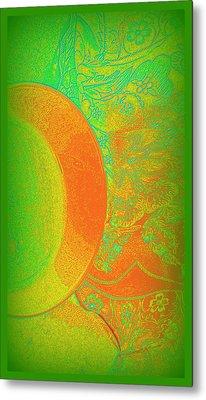 Green Mango Bali Style Metal Print by Wendy Wiese