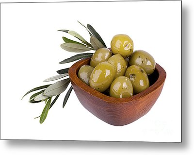 Green Olives Metal Print by Jane Rix