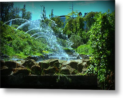 Green Scenery Metal Print by Kevin Flynn