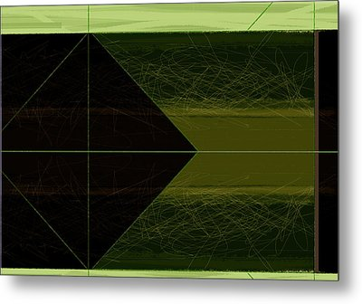 Green Square Metal Print