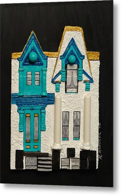 Green Victorian Mansion-montreal Metal Print