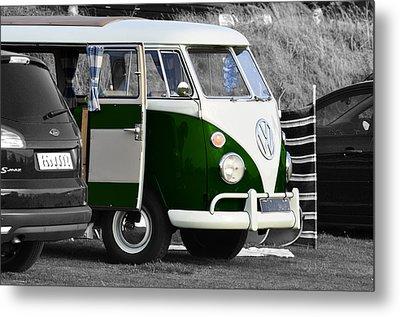 Green Vw Camper Metal Print by Paul Howarth