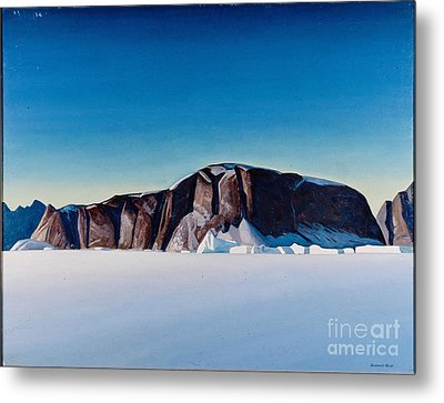 Greenland Coast Metal Print by Kent Rockwell