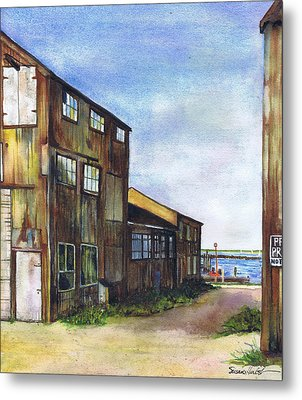 Greenport Boatyard Metal Print