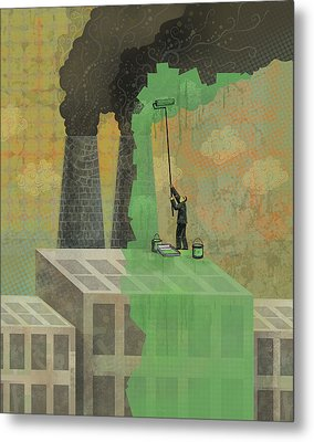 Greenwashing Metal Print by Dennis Wunsch