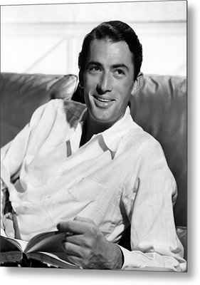 Gregory Peck In The Late 1940s Metal Print by Everett