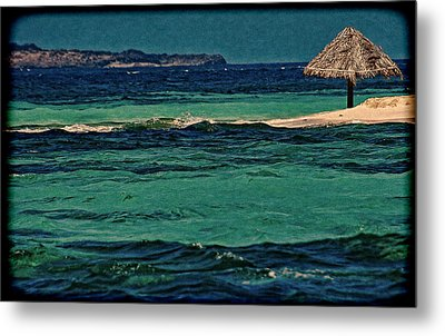 Metal Print featuring the photograph Grenadines Umbrella by Don Schwartz