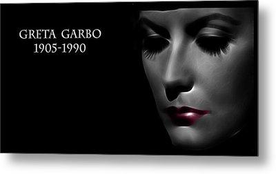 Greta Garbo 1905 1990 Metal Print by Steve K