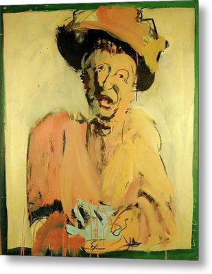 Metal Print featuring the painting Gretchen Colnik by Les Leffingwell