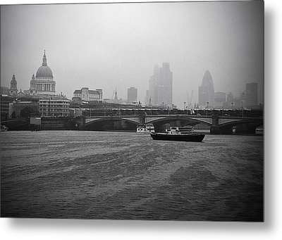Metal Print featuring the photograph Grey London by Lenny Carter