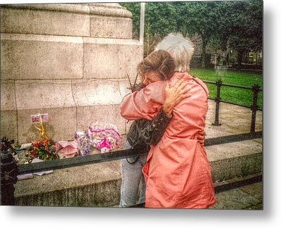 Grief And Compassion Metal Print by Cindy Nunn